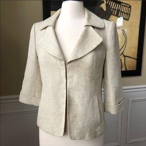 Classiques Entier Jacket Linen Lined 3/4 Sleeve S